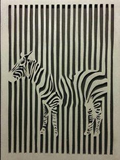 Tableau zèbre. Zebra Painting, Zebra Art, Animal Drawings, Art Drawings, Abstract Line Art, Soul Art, Illusion Art, Linocut Prints, Art Tutorials
