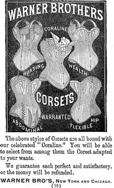 vintage warner corset ad
