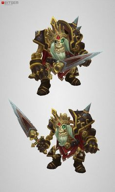 Low Poly Skeleton King Was just completed and is now joining the...