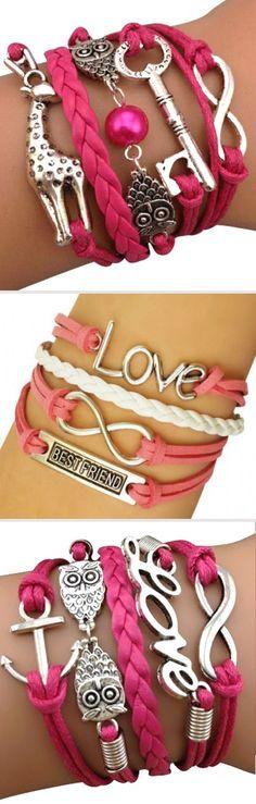 Arm Party Bracelets ♥ L.O.V.E.