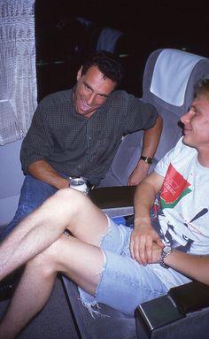 Roland Ratzenberger and Mika Salo having a post race beer on the bullet train from Suzuka to Tokyo San Marino Grand Prix, Spotlight, Bullet, Tokyo, Beer, Racing, Root Beer, Running, Tokyo Japan