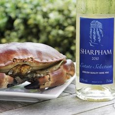 "Sharpham wins ""Best Wine to accompany South Devon Crab"" from judges during English Wine Week. http://www.sharpham.com/"