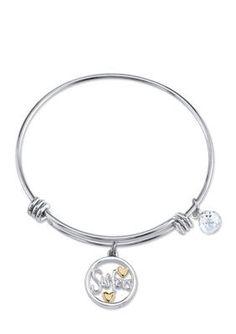 Belk Silverworks  Stainless Steel Two-Tone Sisters Bangle Bracelet