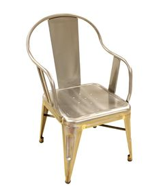 Tolix Galvinised Chair, Grey, Caramel Baby & Child