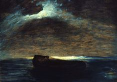 """Constance,"" Albert Pinkham Ryder, ca. 1896, oil on canvas, 28 in. x 35 1/2, Addison Gallery of American Art."