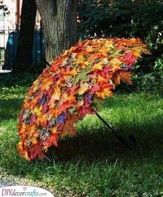 Garten Landschaftsbau Hinterhof Herbstlaub-Umbrella / Herbstlaub-Umbrella, made to measure, use at f Jardin Decor, Ideas Jardin, Deco Floral, Easy Garden, Veg Garden, Upcycled Garden, Garden Tips, Indoor Garden, Garden Crafts
