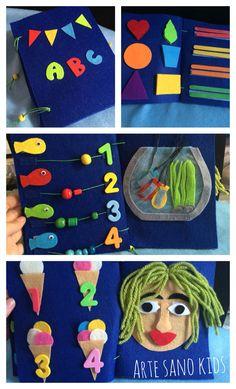 Quietbook o Libro Sensorial De ARTE SANO KIDS #handmade #quietbook #felt #ideas #artesanokids