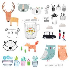 Illustration and surface pattern. Very cute stuff.