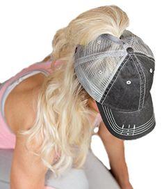 b87ab821aaa BOEKWEG Women s ponytail hat. Fashionable hats made for p... Hat Making