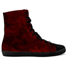 #WomensFashion #Fashion #RedSneakers #Sneakers idxshoes.com - Hidden Wedge #Hi-Tops for women, designed by Mannzie Red Sneakers, High Top Sneakers, Trendy Shoes, Designer Shoes, Wedges, Women's Fashion, Tops, Fashion Women, Wedge