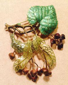 Linden branch. Broch created by russian jeweller Ilgiz F. #ilgizkremlin