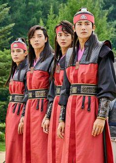 [Hwarang] Do Jihan - Park Seo Joon - Minho - Park Hyungsik Choi Min Ho, Go Ara, Jonghyun, Minho, Asian Actors, Korean Actors, Korean Dramas, Costume Roi, Witch's Romance