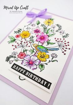 Birthday Card Design, Birthday Cards, Japanese Pen, Diy And Crafts, Paper Crafts, Fancy Fold Cards, Pen And Watercolor, Copics, Hello Everyone