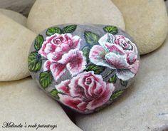 Peint à la main coeur naturel en forme de par MelindaRockPaintings