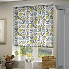 Blomma Kiwi Roller Blind Curtains For Grey Walls, Curtains Behind Bed, Brown Curtains, Ikea Curtains, Shabby Chic Curtains, Drop Cloth Curtains, Burlap Curtains, Curtains Living, Colorful Curtains