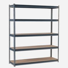 edsal D x W x H Steel Freestanding Shelving Unit at Lowe's. Edsal Boltless steel commercial shelving unit features a post system that enables you to create the work center you need. A modular-designed, Boltless Shelving, Garage Shelving Units, Steel Shelving Unit, Heavy Duty Shelving, Industrial Shelving, Metal Shelves, Garage Storage, Storage Shelves, Industrial Metal