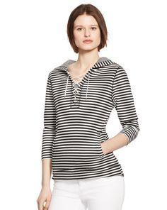 Striped Cotton-Blend Hoodie - Lauren Jeans Co. Long-Sleeve - RalphLauren.com