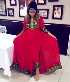 #afghan #style #red #dress