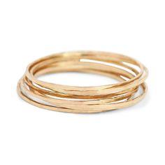 Threadbare Ring, Yellow Gold - Rings - Catbird