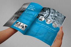 Annual Report Brochure Indesign Template by Braxas Mora, via Behance