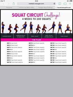 I highly recommend trying PopSugar's 30 Day Squat Challenge. It is a great way to give your backside a lift and build strength in your legs. The challenge is a fun and is great for beginner… Body Fitness, Fitness Tips, Health Fitness, Squats Fitness, Fitness Works, Fitness Gadgets, Fitness Memes, Funny Fitness, Fitness Gear