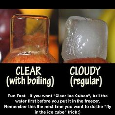 Clear ice cubes!