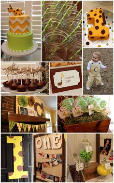 House of Hydrangeas: Giraffe 1st Birthday Party