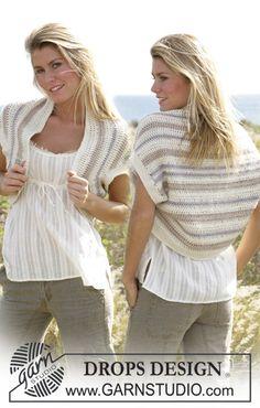DROPS shrug crochet with Silke-Alpaca.  Free pattern by DROPS Design.