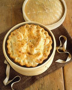 I made this with leftover turkey and gravy from Thanksgiving- so good! Double-Crust Chicken and Mushroom Pie - Martha Stewart Recipes