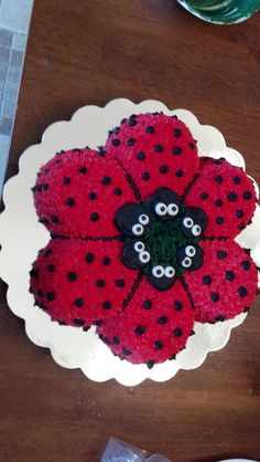 Ladybug cake - super cute for guests!