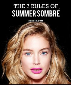 "A guide to ""sombré,"" the softer alternative to ombré. This hair trend looks great on every color! #hair #beauty"
