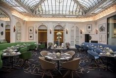 Hotel Saint Marc Italian designers Studio Dimore have created a truly unique interior in this 26-room hotel in the 2nd arrondissement. We love the seamless but bold combination of old and new and graphic and reflective with vintage florals.
