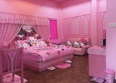 Neon Bedroom, Cat Bedroom, Room Ideas Bedroom, Bedroom Decor, Hello Kitty Zimmer, Hello Kitty Bedroom, Ikea, Pastel, Room Setup