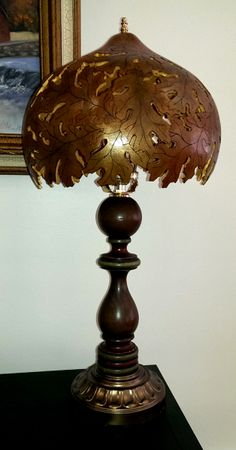 Oak leaf lamp shade by Angie Kilby