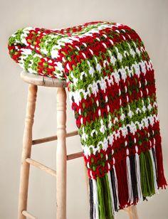 Yarnspirations.com - Caron Woven Plaid Blanket    Yarnspirations