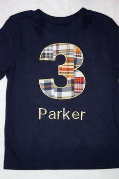 Boys Birthday Number T Shirt