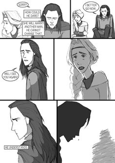 After Thor TDW - comic-fanfic - page 12 by DKettchen on DeviantArt Loki Thor, Marvel Funny, Tom Hiddleston Loki, Marvel Avengers, Loki And Sigyn, Loki Laufeyson, Loki Mythology, Loki Drawing, Lady Loki