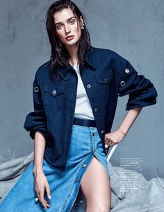 visual optimism; fashion editorials, shows, campaigns & more!: denim couture: marizanne visser by koray parlak for elle turkey may 2015