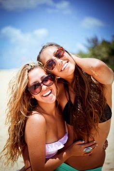 Best friends on the beach, summertime!