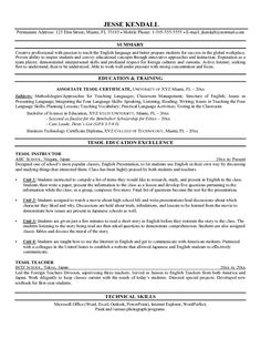 Perfect Esl Teacher Sample Resume First Time Resume Template Cover Letter Resume  Samples First Job .