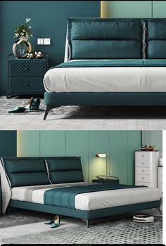 Luxury Bedroom Furniture, Luxury Bedroom Design, Bedroom Bed Design, Small Bedroom Designs, Bed Furniture, Steel Furniture, Bed Headboard Design, Headboards For Beds, Bed Backrest