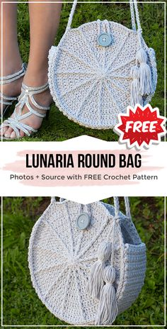 crochet Lunaria Round Bag free pattern crochet Lunaria Round Bag free pattern – easy crochet bag pattern for beginners Bag Crochet, Crochet Handbags, Crochet Purses, Crochet Clothes, Free Crochet, Crochet Hooks, Crochet Bikini, Crochet Simple, Crochet Round