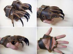 I want to build a steampunk werewolf costume around these! I want to build a steampunk werewolf costume around these! Style Steampunk, Steampunk Fashion, Steampunk Gloves, Steampunk Design, Steampunk Diy, Armadura Ninja, Claw Gloves, Steampunk Accessoires, Armas Ninja