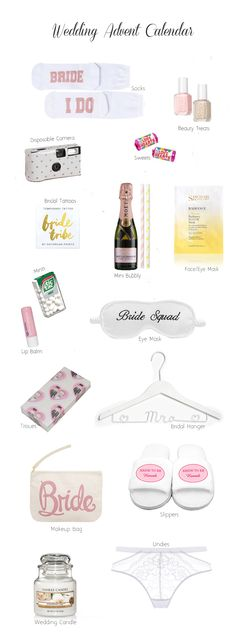 The ultimate wedding pressie for brides-to-be - some gorgeous things you can include in your wedding advent calendar