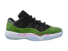 best service 1a48e db683 NikeBasketballfr.com - Chaussure Basket Homme Nike Air Jordan 11 Retro Low  Nightshade Vert Pas Cher 528895-033