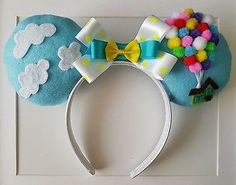 Custom Handmade Disney UP Inspired Mickey Minnie Ears Headband