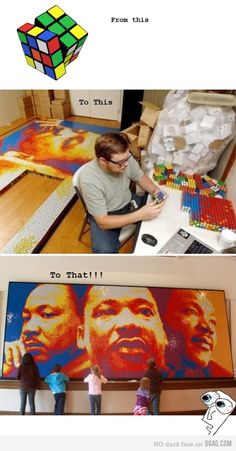 Rubiks cube art.