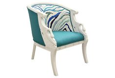 Pair of Art Deco-style club chairs hand-carved throughout with regal swans on the arms. Swan Chair, Kilimanjaro, Club Chairs, Art Deco Fashion, Accent Chairs, Teal, Pairs, Furniture, Home Decor