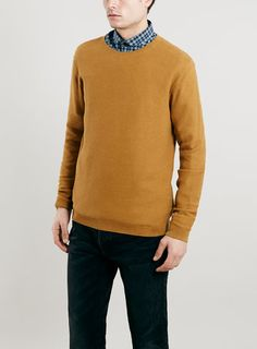 TOPMAN Ltd Core Mustard Short Sleeve Knit Merino Crew Jumper ($58 ...
