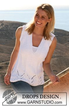 Ravelry: 107-26 Top with Rib and lace pattern pattern by DROPS design